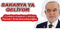 Temel Karamollaoğlu Sakarya'ya geliyor.