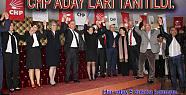 CHP Aday adaylarını tanıttı....