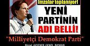 Meral Akşener'in yeni partisinin adı belli...