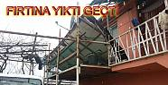 Pamukova da Fırtına Çok sayıda çatıyı...