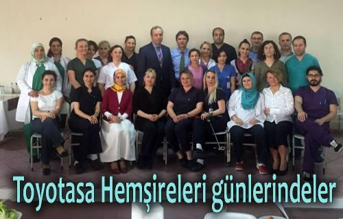 Toyotasa yönetimi, çalışan Hemşirelerin Günlerini kutladı