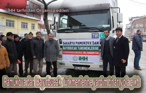 Türkmenlere Pamukova dan 2  TIR dolusu yardım