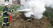 Doğal gaz yangınlarına karşı müdahale tatbikatı yapıldı.
