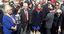 Vatan Partililer, Ermeni Soykırımı yalanına karşı Taksim'de yürüdüler.