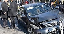 Cumhurbaşkanı konvoyunda trafik kazası