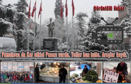 Yeni Kar Pazarı vurdu, öğrencileri sevindirdi, Trafiği karıştırdı.