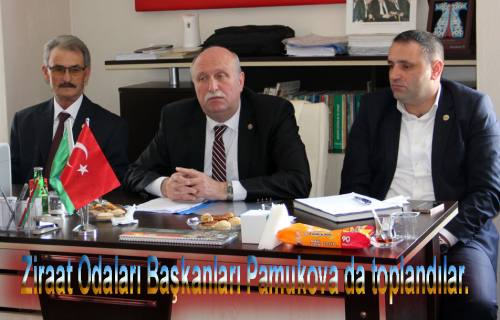 Ziraat Odaları Başkanları Pamukova da toplandılar.