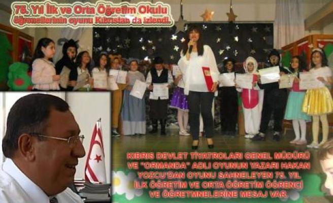 75. Yıl Okulu Öğrencilerine Kıbrıs'dan mesaj var.