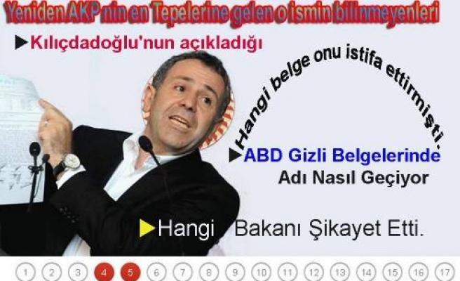 AKP nin en tepelerine yeniden gelen o ismin bilinmeyenleri