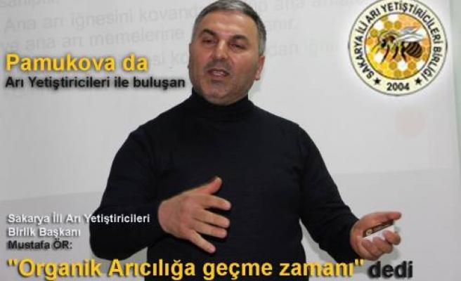 Arıcılar Birlik Başkanı Mustafa Ör, Pamukovalı Arıcılara yeni projeleri anlattı.