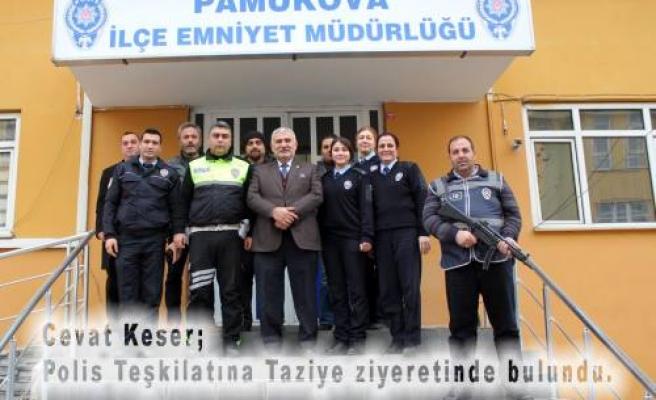 Başkan Cevat Keser, Polislere Taziye Ziyaretinde bulundu.