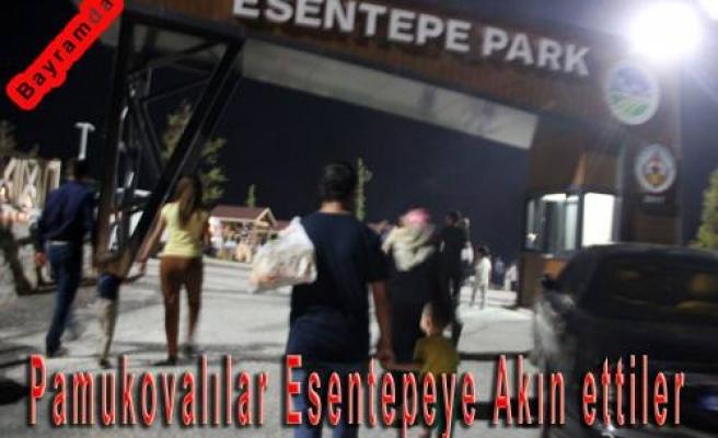 Bayramda açılan Esentepe Park'a Pamukovalılar akın ettiler.