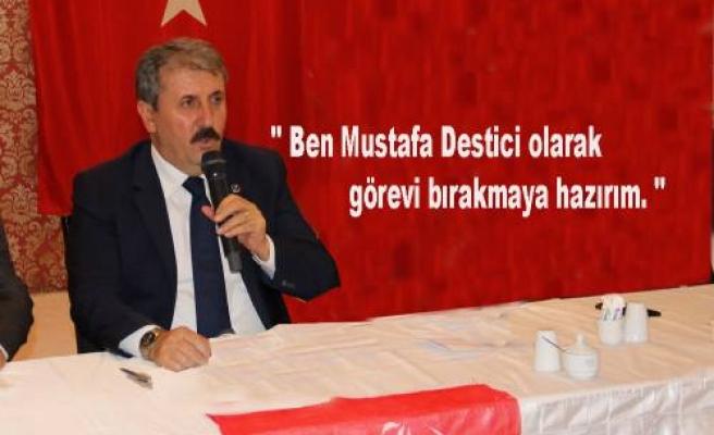BBP Genel Başkanı Destici'den istifa açıklaması