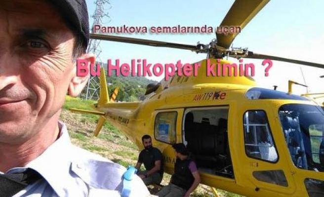 Bu Helikopter Bugün Pamukova da merak uyandırdı.