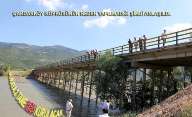 Çardakköy köprüsünün neden yapılmadığı şimdi anlaşıldı.