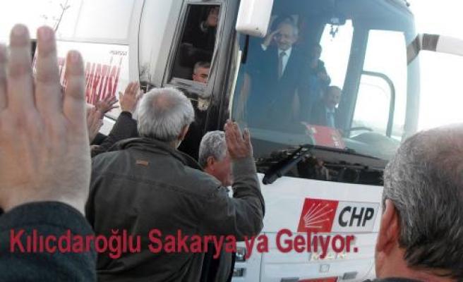 CHP Genel Başkanı Kemal Kılıçdaroğlu bugün Adapazarı na geliyor.
