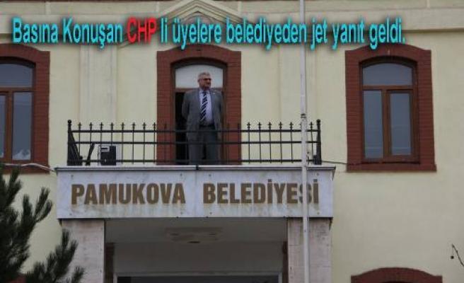 CHP li Meclis Üyelerinin Basın Açıklamasına Belediyeden açıklama geldi.