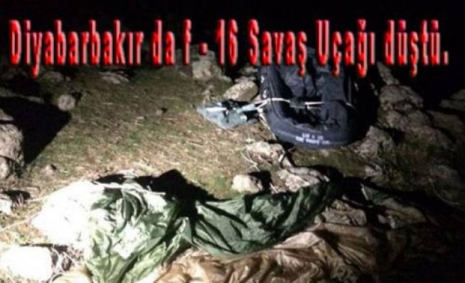 Diyarbakır da F 16 Savaş Uçağı Düştü