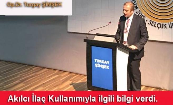 Dr. Turgay Şimşek; Akılcı İlaç Kullanılması tavsiyesinde bulundu.