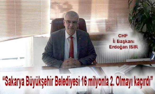 Erdoğan Isır; Büyükşehir'in Borç Yarışında Türkiye 2. ciliğini kaçırdığını söyledi