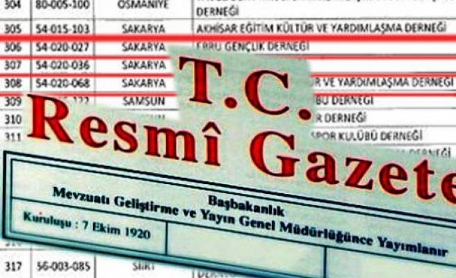 Fetö Terör Örgütü Kapsamında faaliyet gösterdiği iddiası ile 374 Dernek Kapatıldı.
