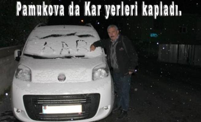 Pamukova da kış şimdi başladı.