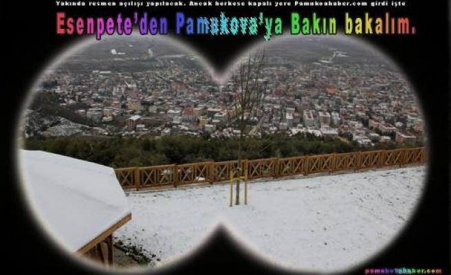 Pamukova'ya tepeden bakan Esentepe Tesislerini ilk defa böyle görüntüledik.