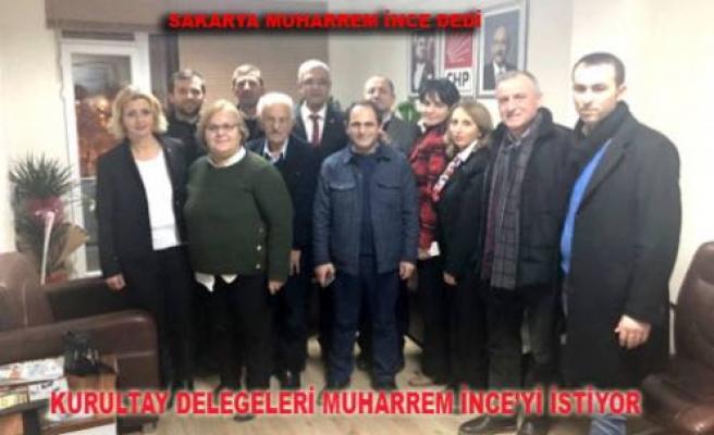 Sakarya CHP'den, İnce'ye Destek Çıktı