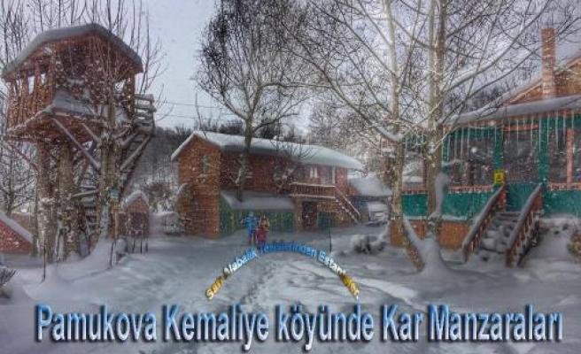 Son Kar, Pamukova'nın Güzelliklerini ortaya çıkardı.