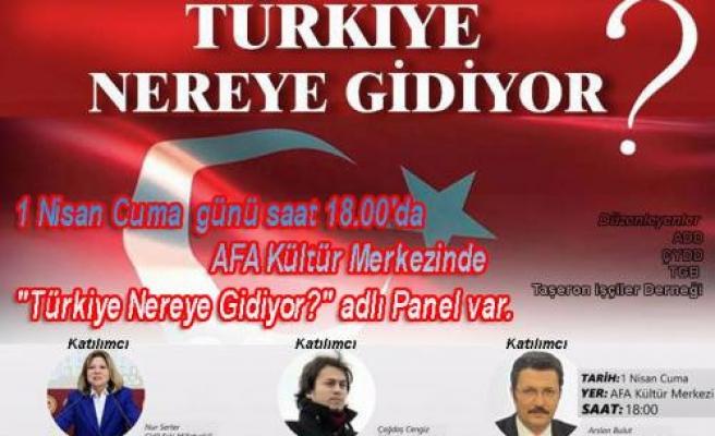 ' Türkiye Nereye Gidiyor? ' Panele davet.