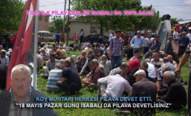 Yılın ilk pilav etkinliği İsabalı da başlıyor.