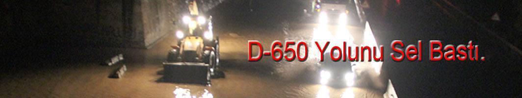 D-650 Karayolu felç oldu.  Anadolu'ya ulaşım durdu.