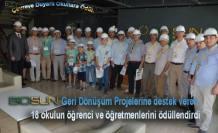 Biosun da Çevreye duyarlı okullar için ödül töreni düzenlendi.