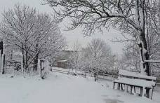 Son dakika…Pamukova Yükseklerine kar yağıyor