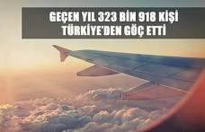GEÇEN YIL 323 BİN 918 KİŞİ TÜRKİYE'DEN GÖÇ ETTİ