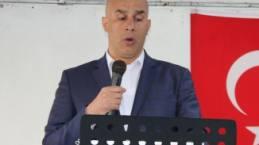 İrfan Metin ilk açık alan konuşmasını yaptı.