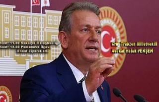 CHP Milletvekili Haluk Pekşen geliyor
