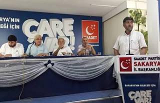Saadet Parti Temmuz Toplantısında Hükümete yüklendi.