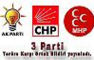 AKP, CHP ve MHP grupları teröre karşı ortak bildiri...
