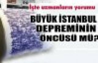 Büyük İstanbul depreminin öncüsü mü?