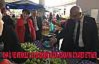 CHP'liler Adapazarı'nda Pazar Esnafını Ziyaret...