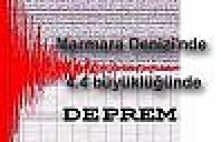 Marmara'da 4.4 büyüklüğünde deprem oldu.