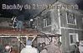 Pamukova Bacı köy Mahallesinde 2 katlı ev yandı.