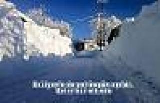 Pamukova'nın Kar Altında Kalan Köyleri tam bir...