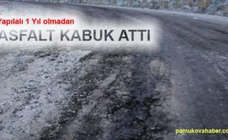 Pamukova'da 1 yıl önce yapılan yol bozuldu