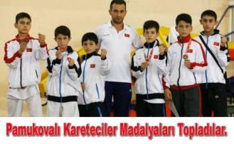 Pamukovalı Yıldızlar Karate müsabakalarında 8 madalya aldılar