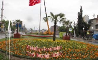 Belediye nin Türk Bayrağı duyarlılığı