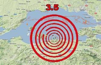 Marmara 3.5 şiddetinde sallandı.