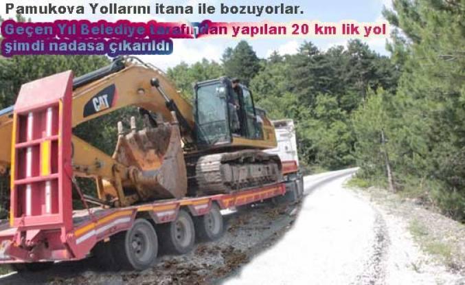 Seçime 1 ay kala Pamukova Köy Yollarını bozuyorlar.
