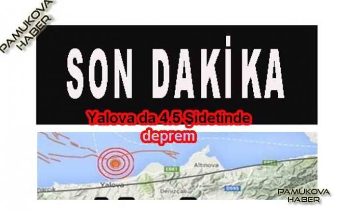 Yalova'da 4.5 şiddetinde deprem oldu.